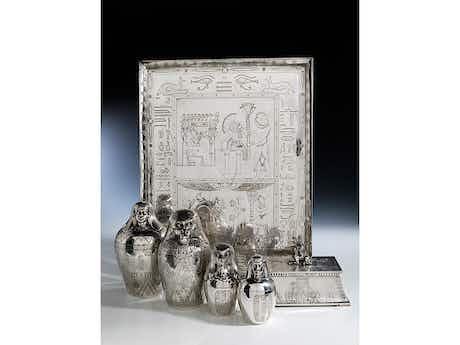 Silberservice im ägyptischen Stil