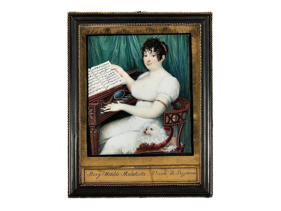 Miniatur der Margareta Metilde Malatesta