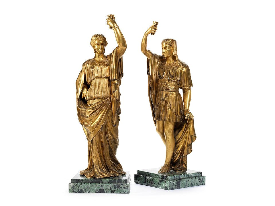 Paar Leuchterfiguren im Style Égyptien