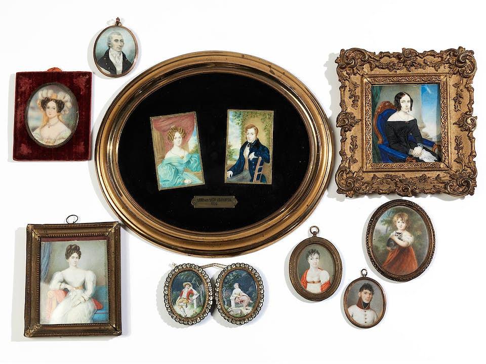 Sammlung von zehn Miniaturen