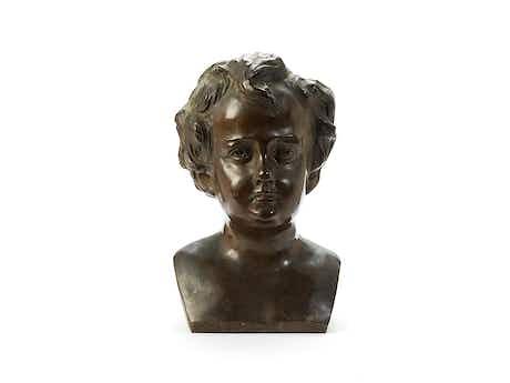 Bronzekopf eines Jungen