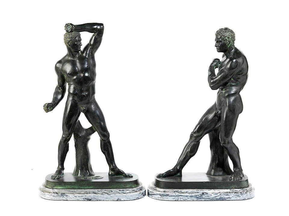Paar Athleten-Figuren