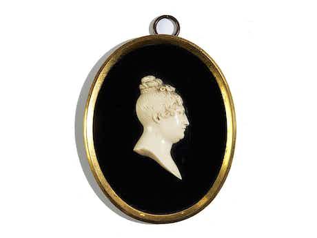 Profilbildnis der Charlotte Sophie von Sachsen-Coburg-Saalfeld