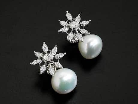 Südseeperlen-Diamant-Ohrringe