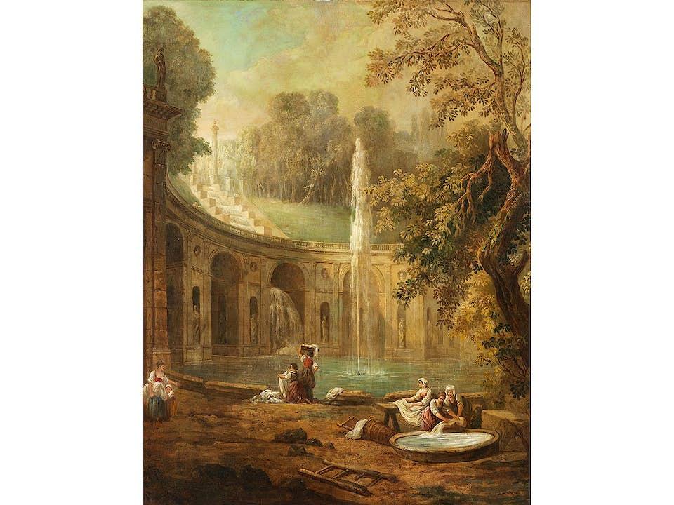 Hubert Robert, 1733 – 1808, zug./ Kreis des