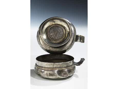 Musealer Silberner Doppelkopf des 14. Jahrhunderts