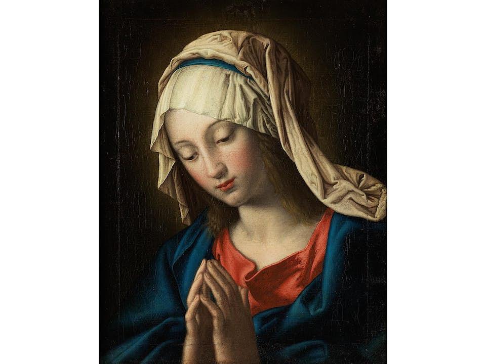 """Maler des 18. Jahrhunderts, Kopie nach Giovanni Battista Salvi, 1609 – 1685, genannt """"Sassoferrato"""""""