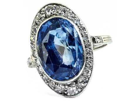 Saphir-Diamantring