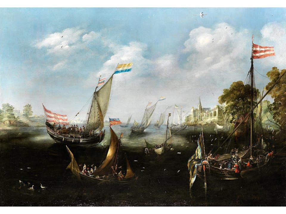 """Andries Artvelt, auch """"Andries van Eertvelt"""", 1590 Antwerpen - 1652 ebenda, zug."""