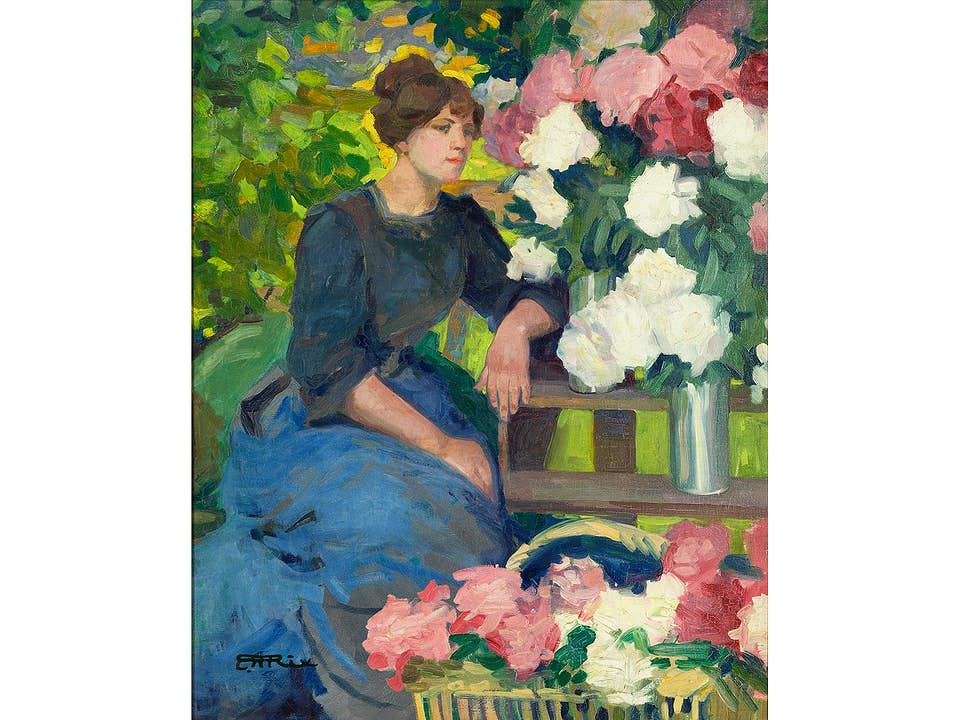 Hilda Rix Nicholas, 1884 Ballarat, Australia - 1961 Delegate, Australia, zug.