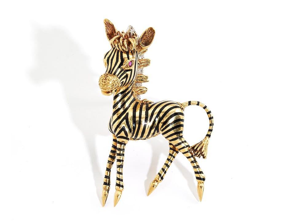 Zebra-Brosche von Frascarolo