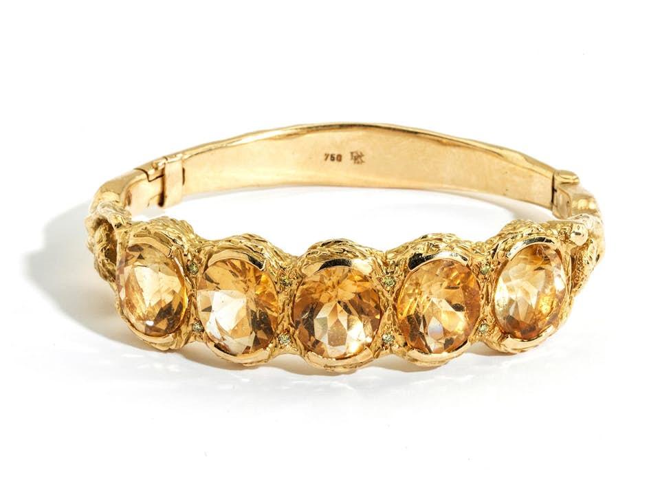 Gold-Citrinarmreif