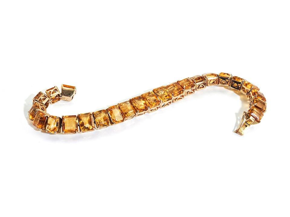 Citrin-Goldarmband