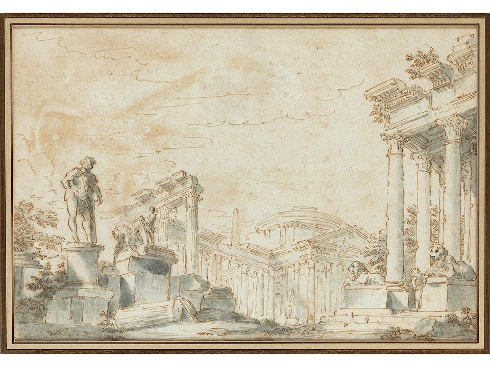 Giovanni Paolo Panini, 1691 Piacenza - 1765 Rom, Kreis/ Nachfolge des