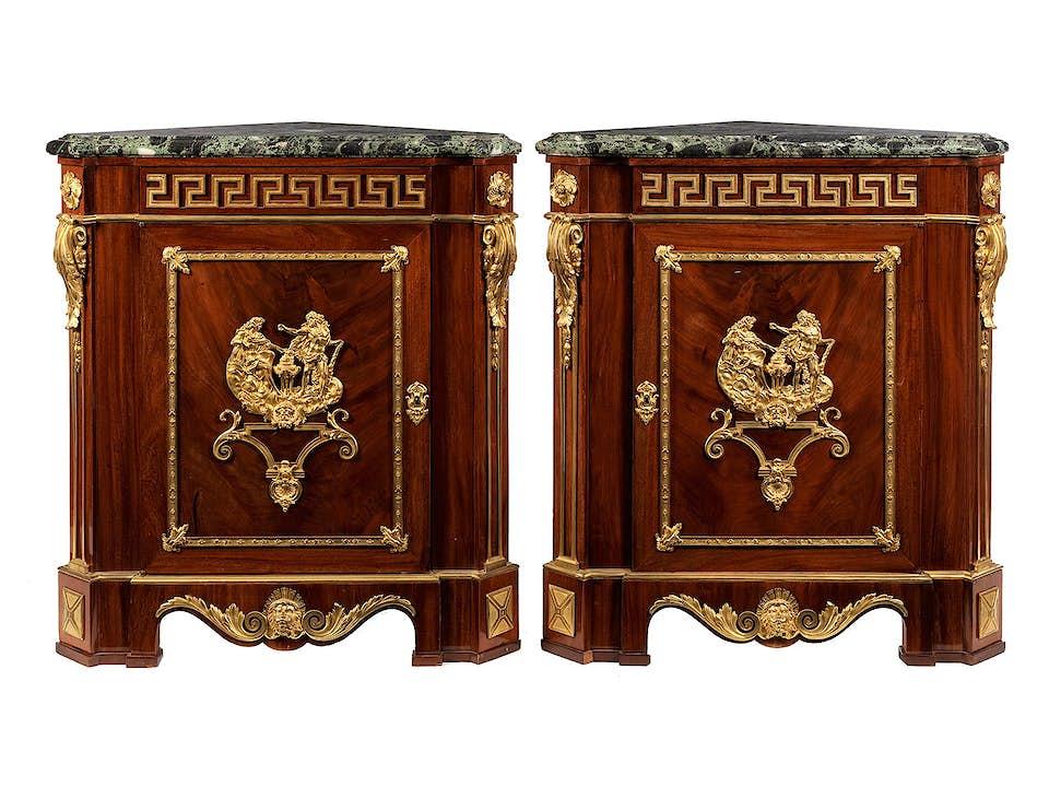 Paar Louis XVI-Encoignuren