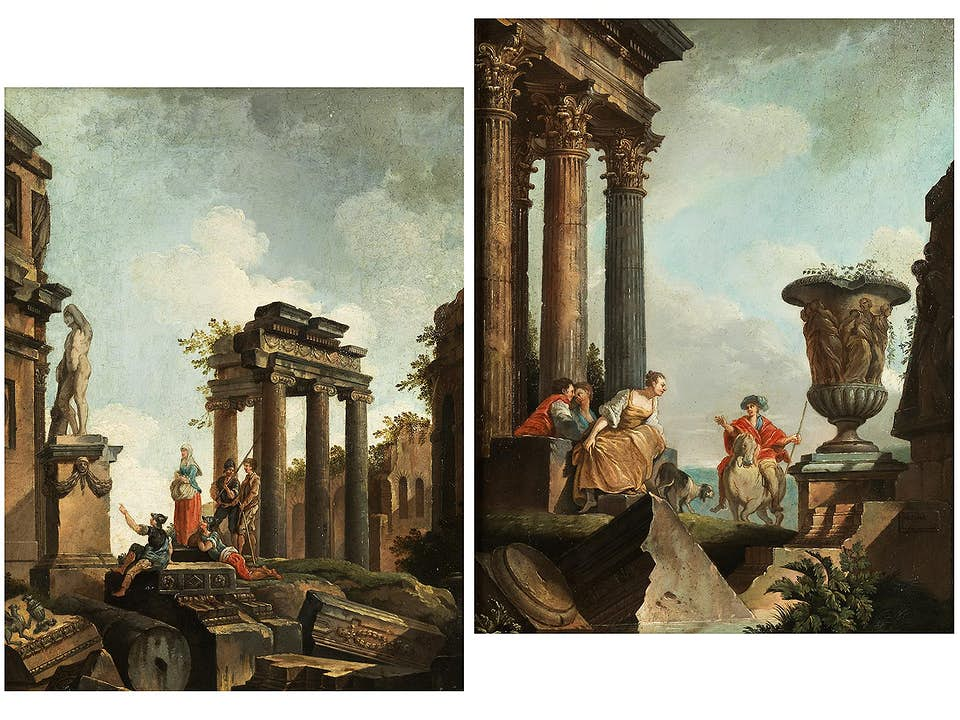 Giovanni Paolo Panini, 1691 Piacenza - 1768 Rom, Schule des