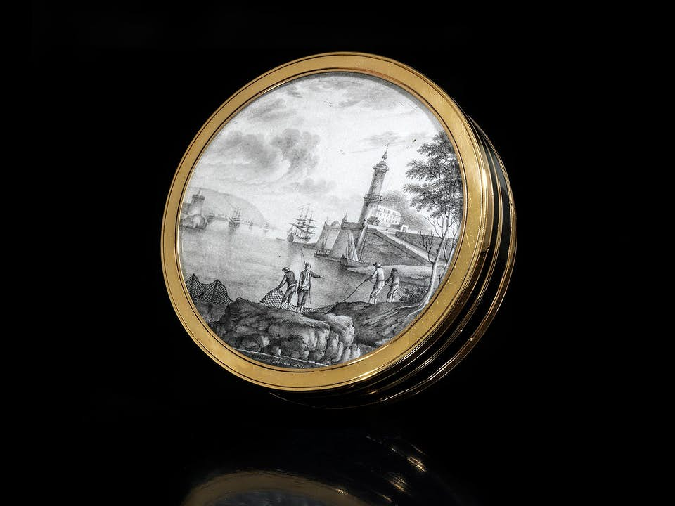 Dose mit Miniatur von Antoine le Loup (1730 - 1802)