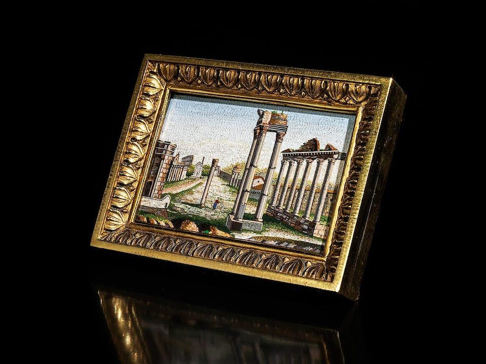 Mikromosaik mit dem Forum Romanum