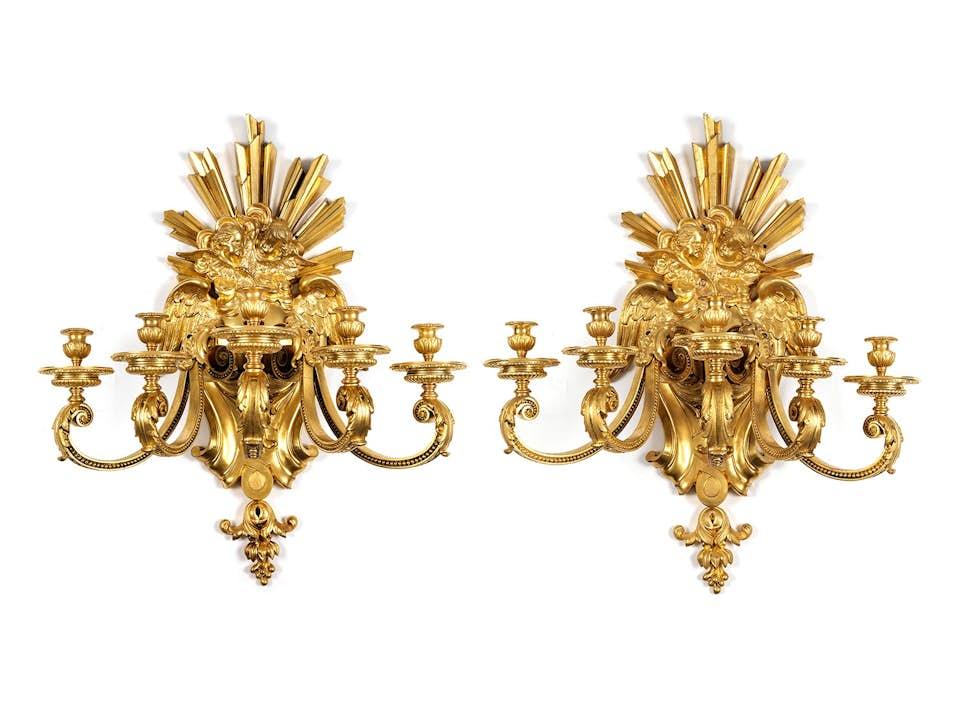 Paar Wandappliken im Louis XIV-Stil