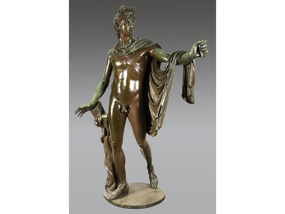 Monumentale Skulptur des Apollo von Belvedere