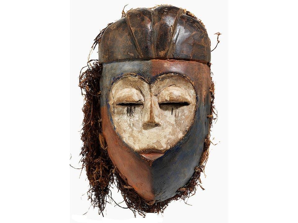 Maske des Stammes Kwese/ Gabun