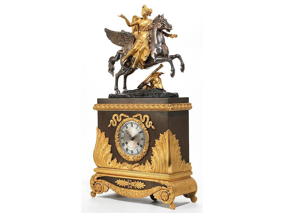 Louis Philippe-Kaminuhr mit Pegasus