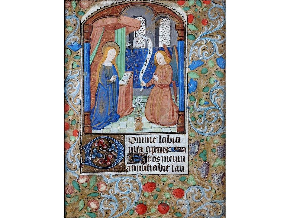 Französisches Stundenblatt, 15. Jahrhundert