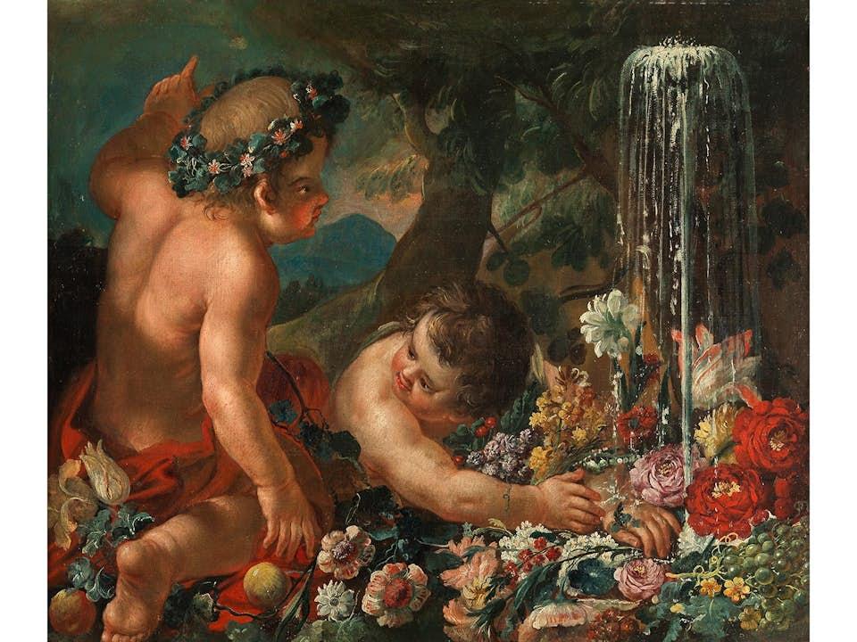Abraham Brueghel (1631 - 1690) und Guillaume Courtois (1628 - 1679)