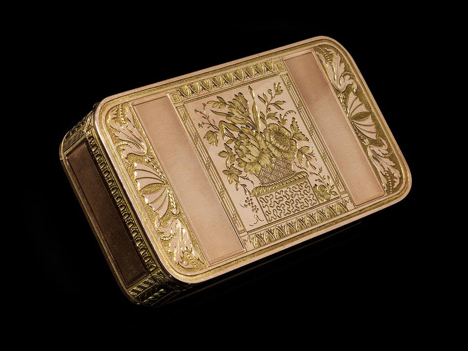 Empire-Goldtabatière