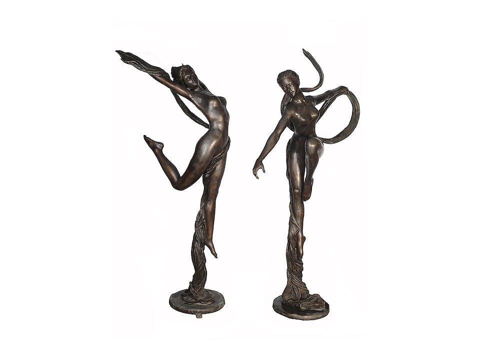 Paar Bronzeskulpturen