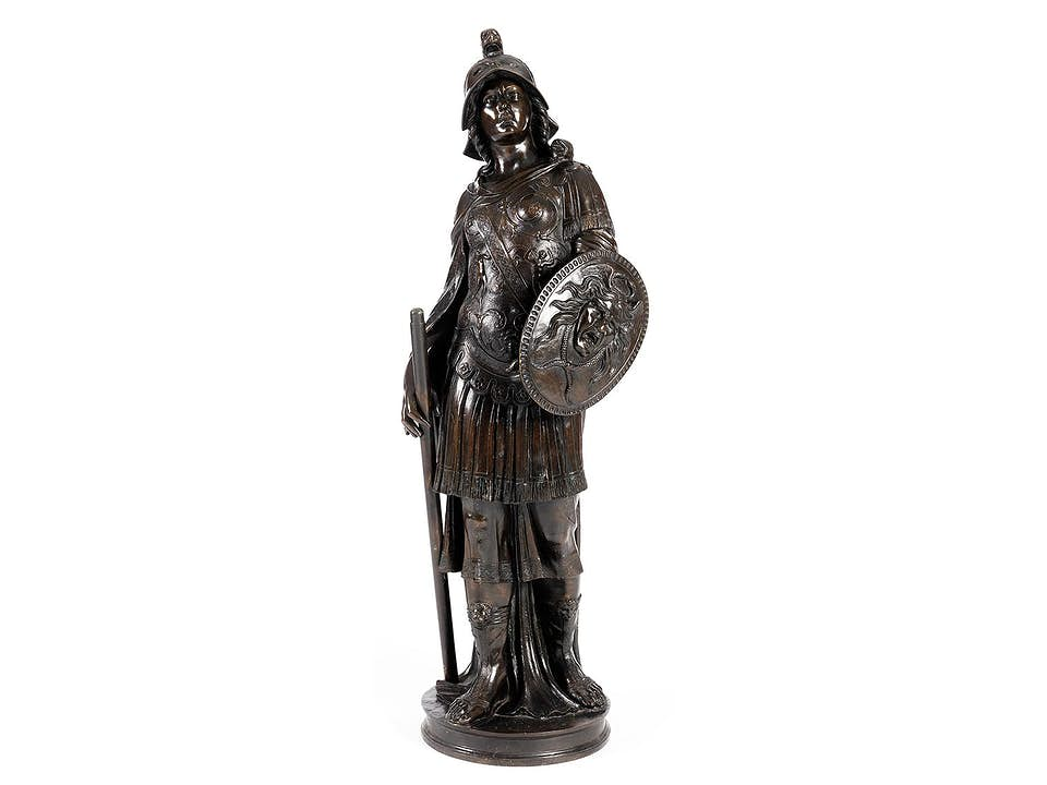 Große Bronzefigur der Kriegsgöttin Bellona