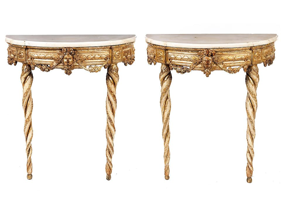 Paar Louis XVI-Konsolen